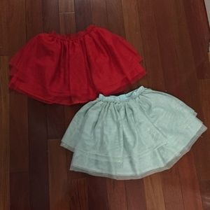 2 Tutu skirts - size 5-6 youth